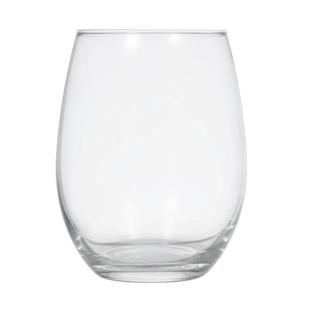 Etched Stemless Wine Glasses