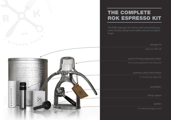 ROK Espresso Machine (Black & Chrome)