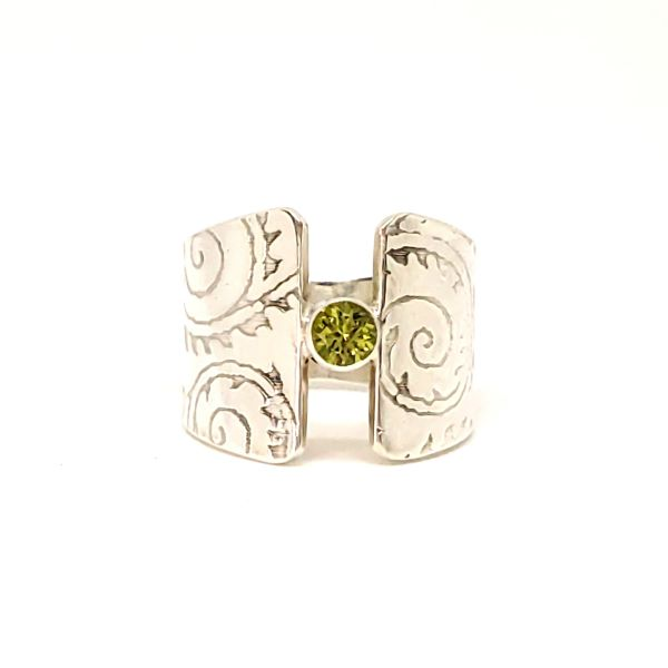 Peridot Wide Band Ring