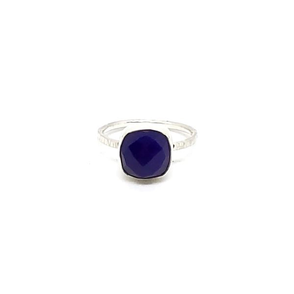 Faceted Amethyst Stacker Ring