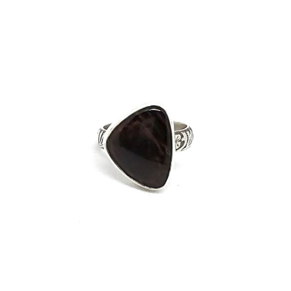 Gold Sheen Obsidian Ring
