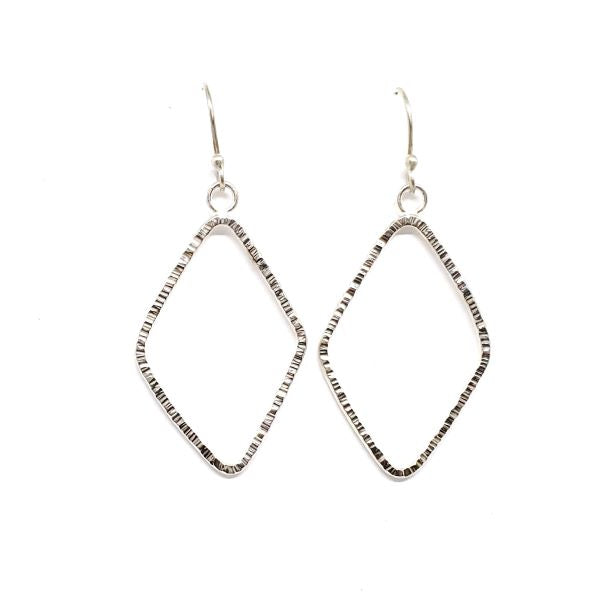 Textured Diamond Shaped Earrings