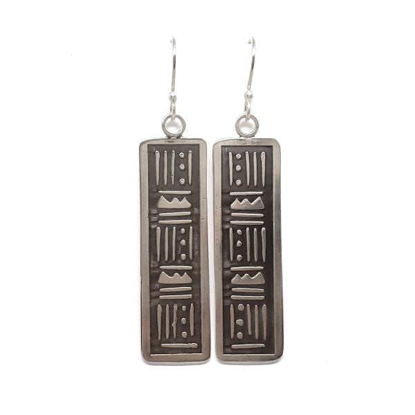 Tribal Tattoo Inspired Earrings (Mountains)