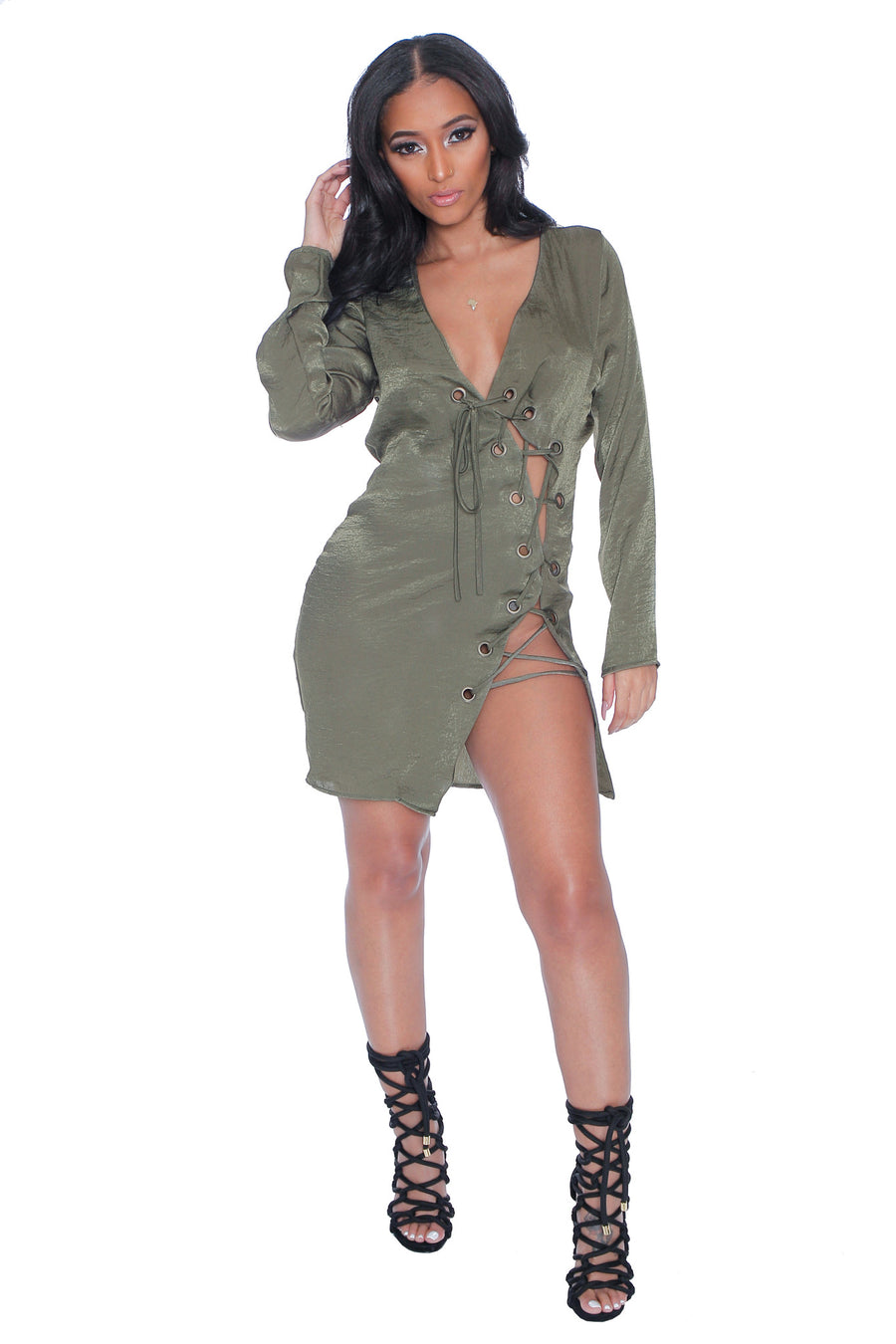 Ciara lace Up dress