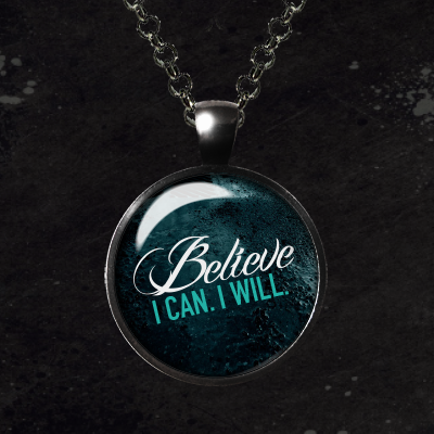 Believe Glass Pendant Necklace