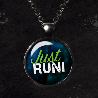 Just Run Glass Pendant Necklace