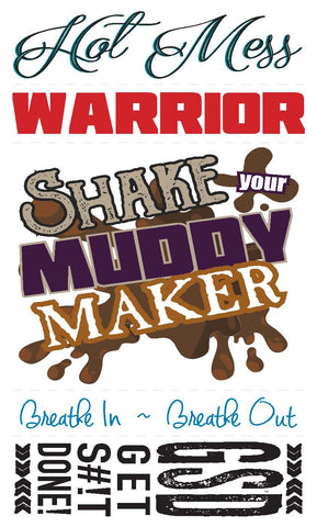 *NEW Temporary Tattoo SET - Mud Run / Warrior / Obstacle