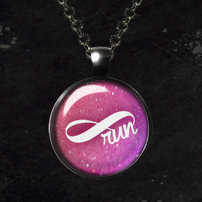 Run Forever Infinity Glass Pendant Necklace