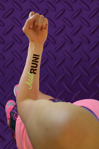 Just Run Temporary Tattoo