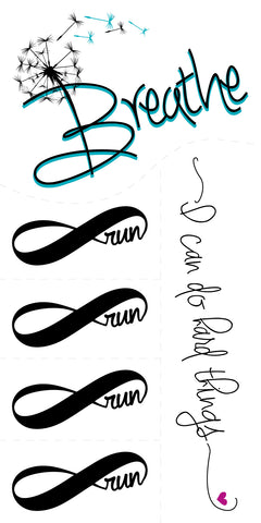 *NEW Temporary Tattoo SET - Breathe