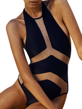 Alexa l High Luxury Sexy Black Backless One Piece Swimsuit