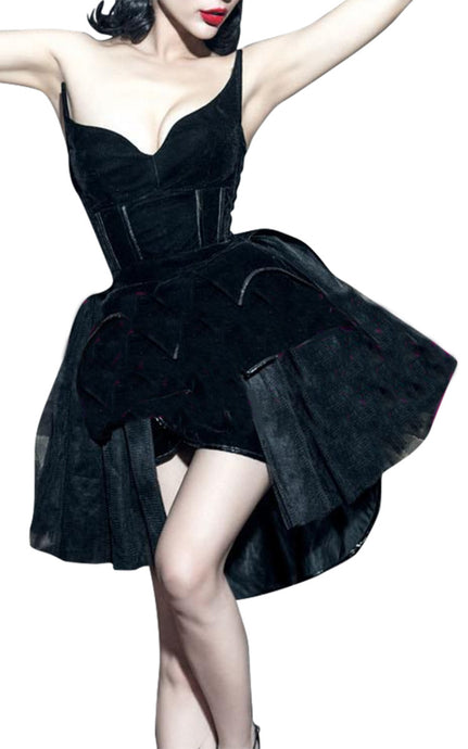 Amina | Batwing Corseted Tutu Dress