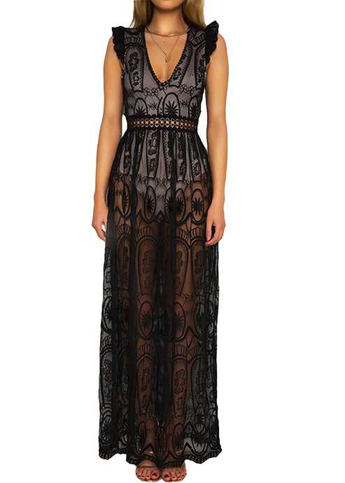 CATHERINE BOHO LACE MAXI DRESS