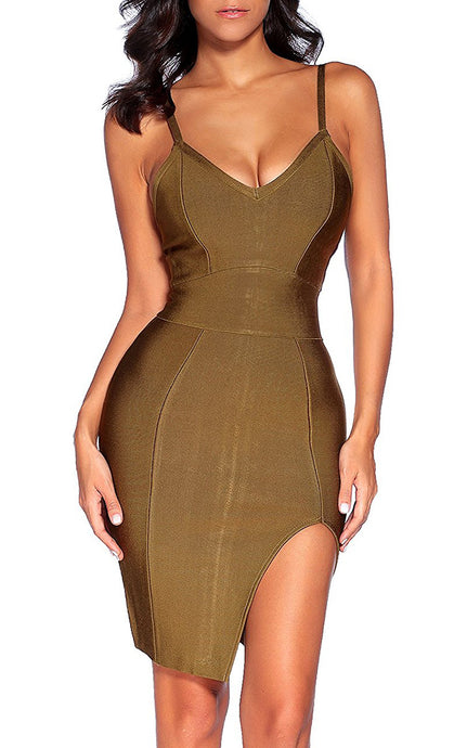 Davina | Spaghnetti Strap Bodycon Maxi Dress
