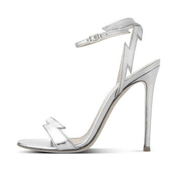 Flash Silver Stream | Sultry Party Chic Stiletto