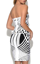 Gran Prix | Sultry Contrast Striped Two Piece Tube Dress