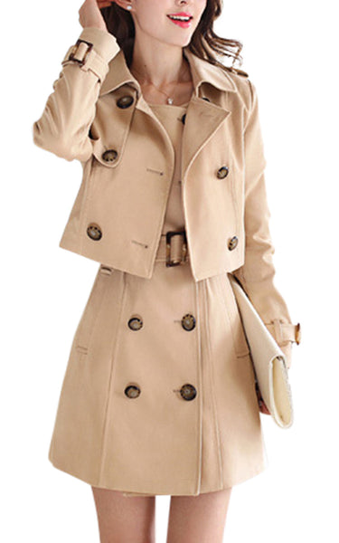 Leer | Luxe Mini Trench Sleeveless Two-Piece Playset
