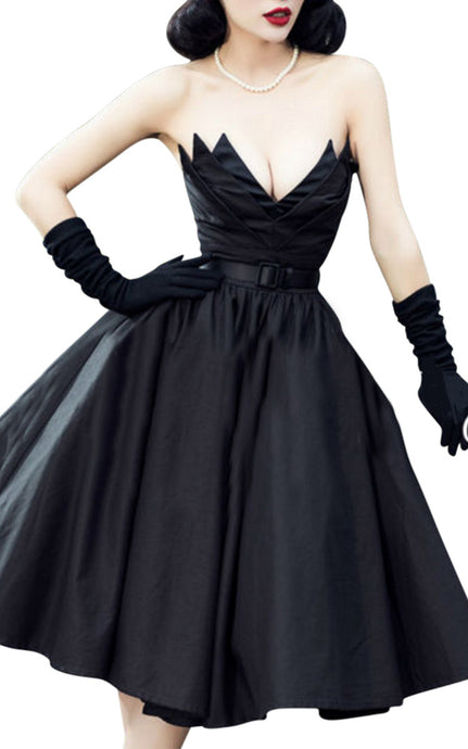 Lili St. Cyr | High Waisted Strapless Dress