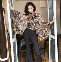 Stefani Envy| Luxury Leopard Silk Pussy Bow Blouse
