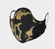 Siren Crystal Marble Gold Face Mask