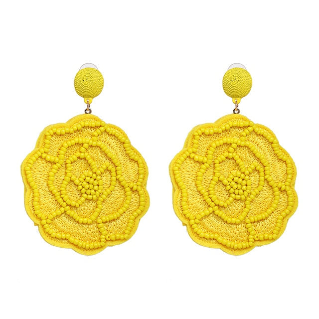 Madrid Beaded Earring | Canary