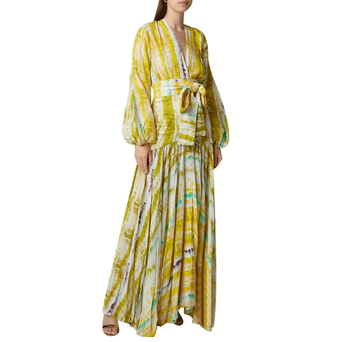 Sahara | Printed Billowed Maxi Dress