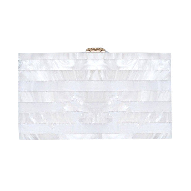 Mother of Pearl Acrylic Clutch