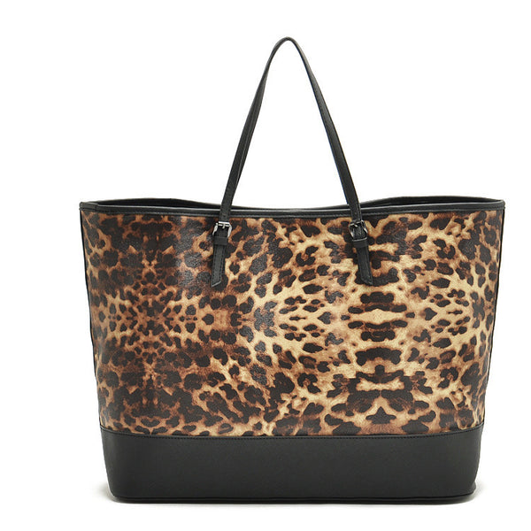 Fifi l Leopard Printed Shopping Bag