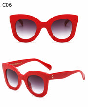Pippa Red | Chic Vintage Oversized Fade Sunglasses