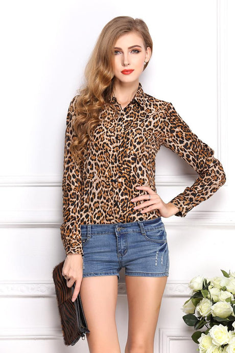 Lisa | Leopard Blouse