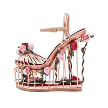 Gwen | Luxury Art Birdcage Wedge Heels