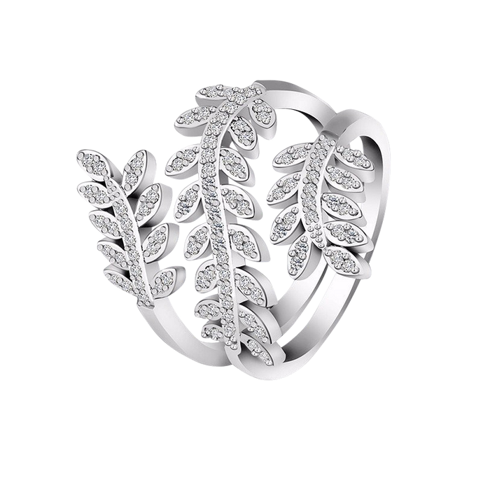 Olivie | Elegant Leaf Wrap Ring