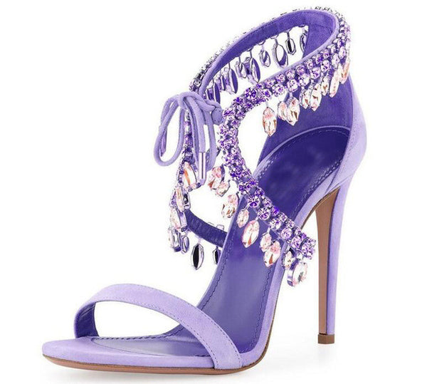 Versailles Orchid | High Luxury Crystal Micro Suede Stiletto