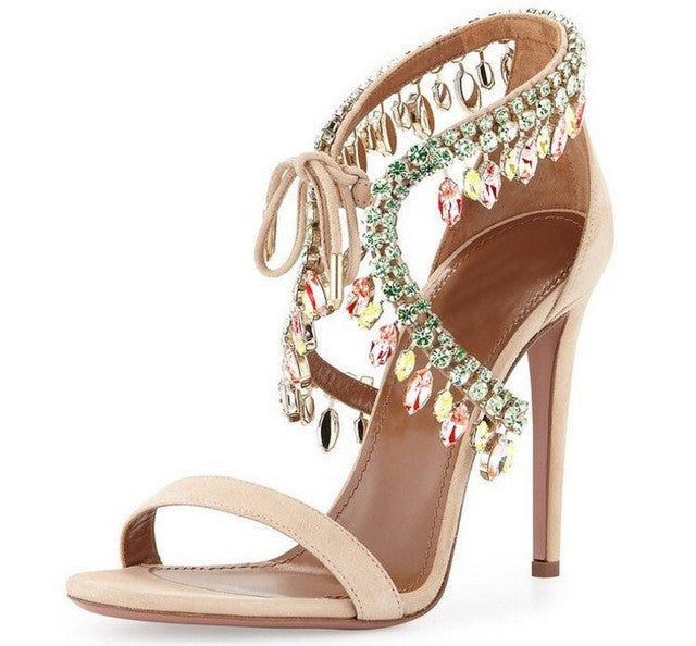 Versailles Nude | High Luxury Crystal Micro Suede Stiletto