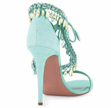 Versailles Mint | High Luxury Crystal Micro Suede Stiletto