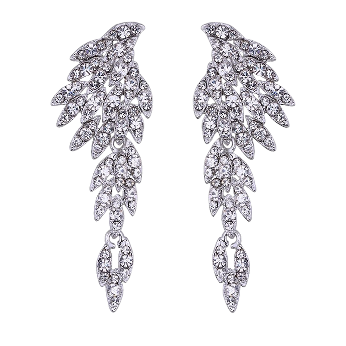 Phoenix | Decadent Feathered Crystal Drop Earring