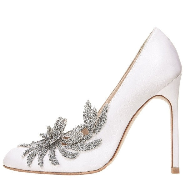 Ms. Bradshaw | Luxurious Crystal Satin Heels
