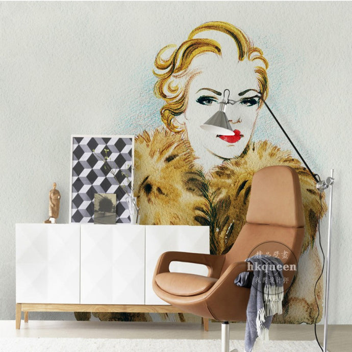 Mrs. Jones | Chic Glamour Watercolor Mural