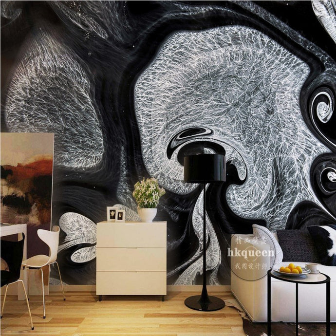 Oil Slick | Retro Abstract Wall Mural