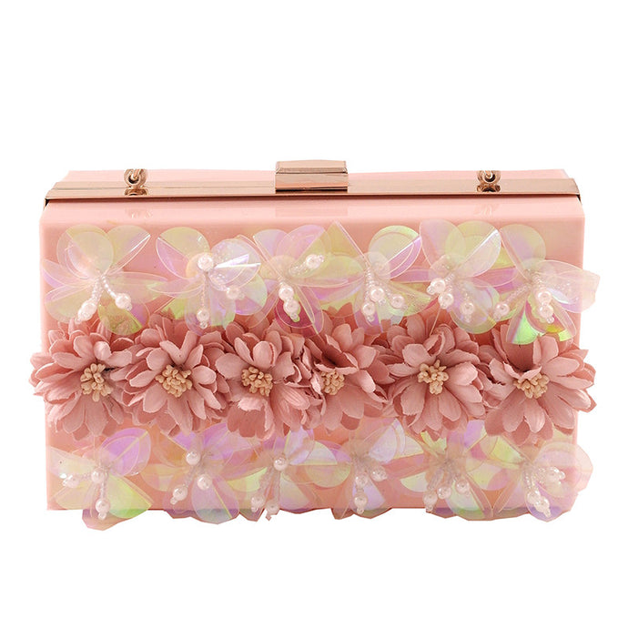 Blooms of Essex | Embellished Lucite Clutch