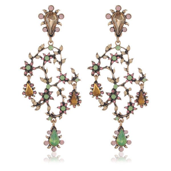 Labyrinth | Vintage Style Luxury Ivy Earring