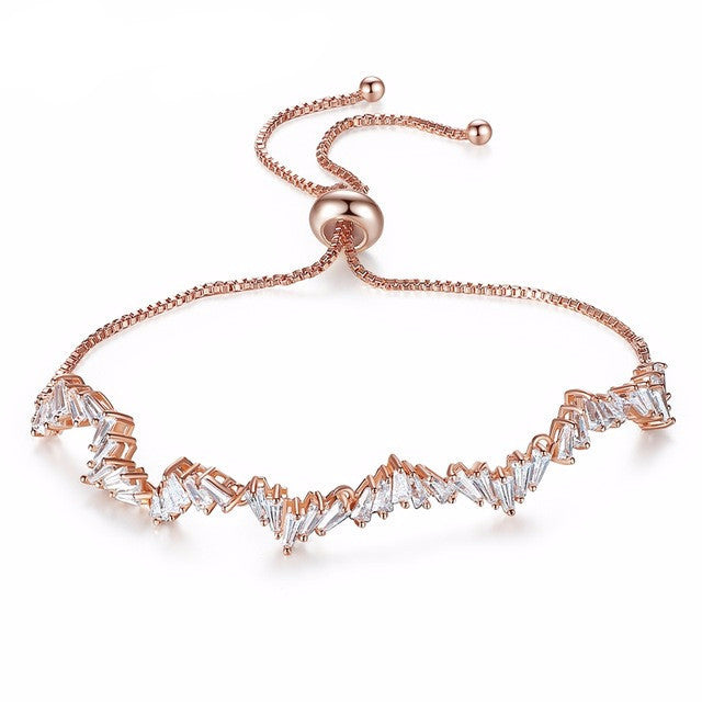 Manhattan Rose Gold | Elegant Chaos Drawstring Bracelet