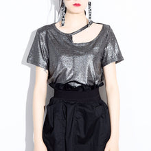 Oil Slick | Asymmetric Irregular Metallic Top
