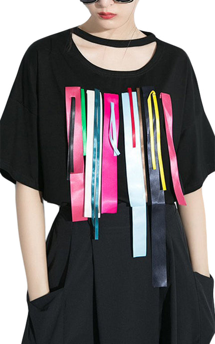 Williamsburg | Ribbon Decorated Oversized Tee