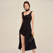 Mrs. Jones | Peek-A-Boo Empire Waist Black Dress
