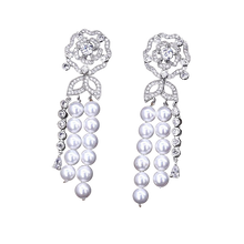 Rosaline | Decadent Micro Pave & Pearl Drop Earrings