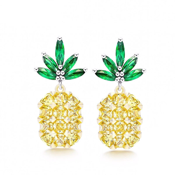 Bikini Bottoms | Pineapple Crystal Earrings