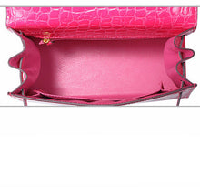 Melissa Miami Pink  l High Luxury Hot Pink Alligator Printed Leather HandBag