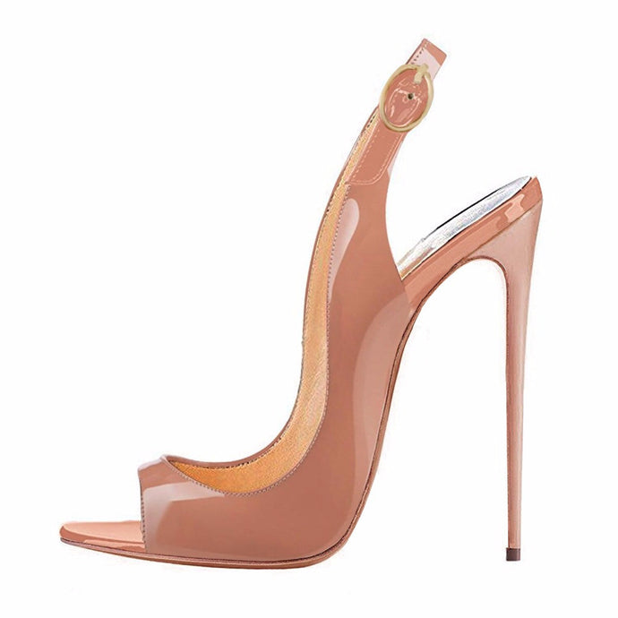 Sex is in the Heel Nude | 120 mm Sling Back Stiletto
