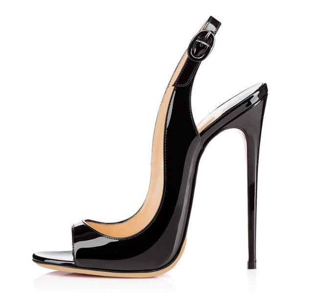 Sex is in the Heel Noir | 120 mm Sling Back Stiletto